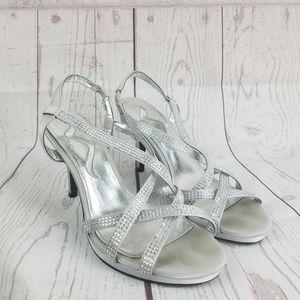 Nina Dress Sandal Rhinestone straps 6
